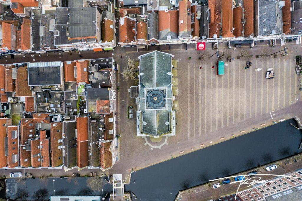 Drone foto Waagplein Alkmaar